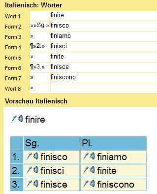 word festes trennzeichen